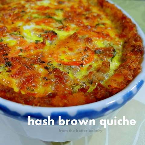 The Batter Baker Hash Brown Quiche Apple Pear Crumble