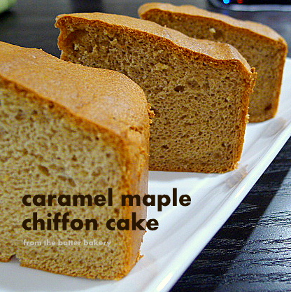 The feature ingredients for this cake are caramel tea and maple syrup ...