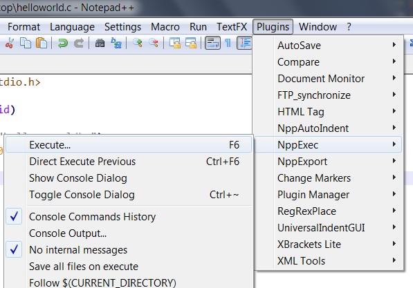how to set notepad++ to html