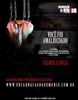 Maldição do Zé do Caixão, publicidade diabólica