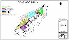 Mapa de la Parroquia Domingo Peña del Municipio Libertador del Estado Mérida