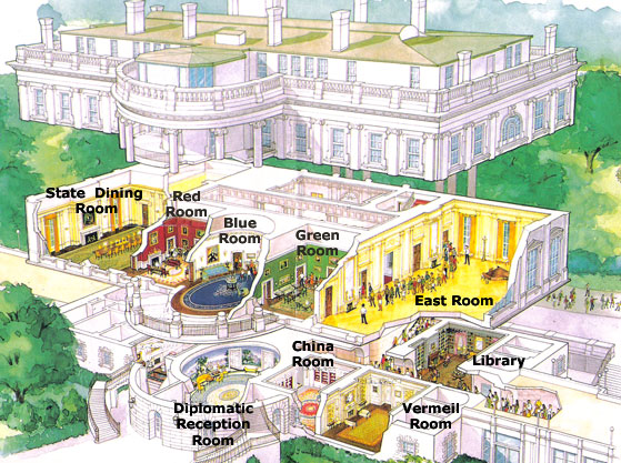Gw admissions student blog the much anticipated white house tour diagram of where the tour will take you ccuart Choice Image