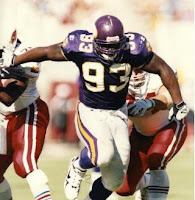 former Minnesota Vikings Player John Randle on the field