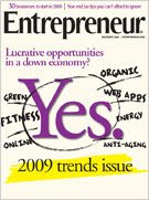 entrepreneur magazine december 2008 cover