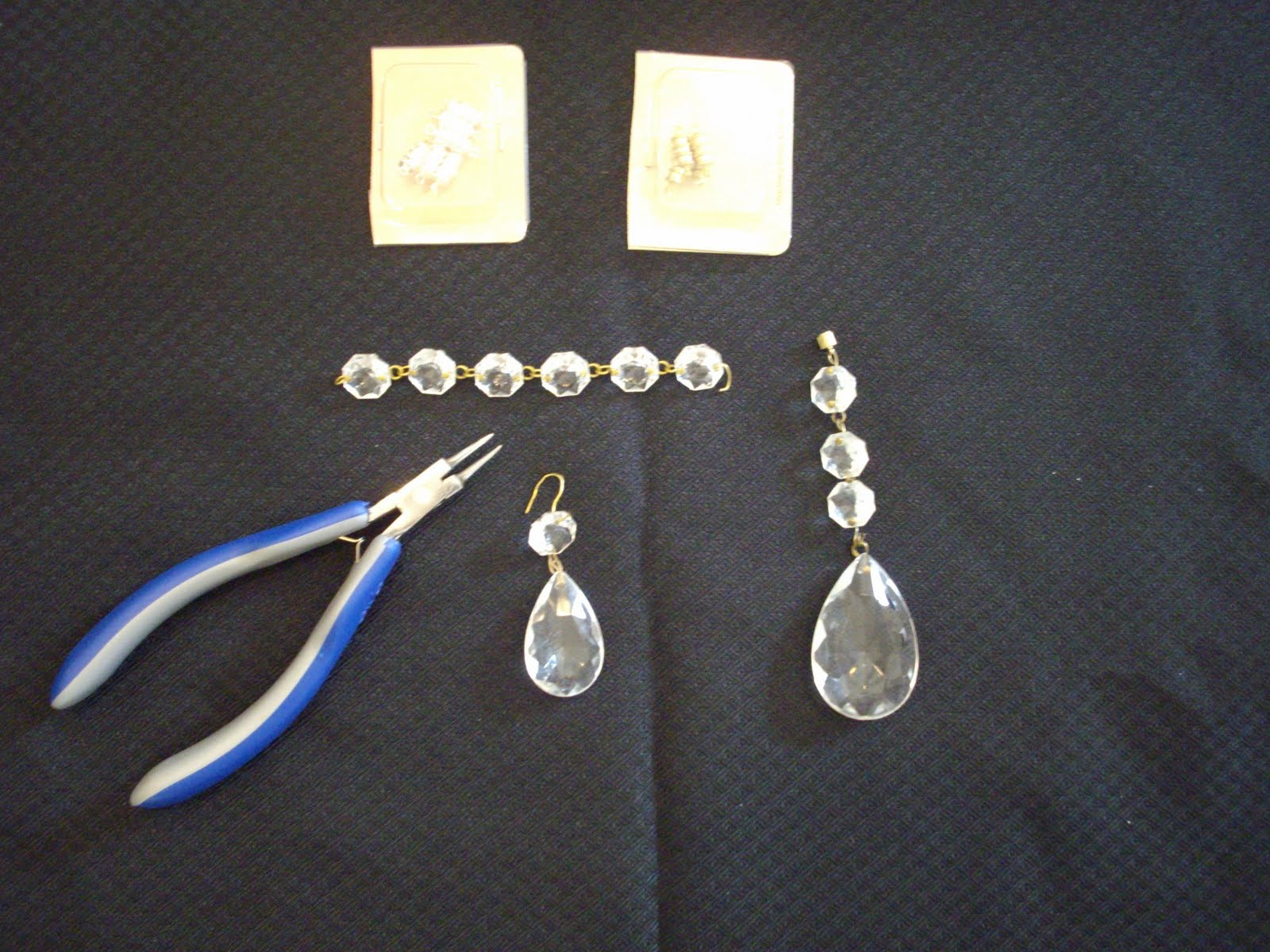 Anythingology bling for your chandeliers add the round crystals to the pear shaped ones and add a magnet to the end you will need the jewelry tool to make the loops for the magnet and attaching aloadofball Choice Image