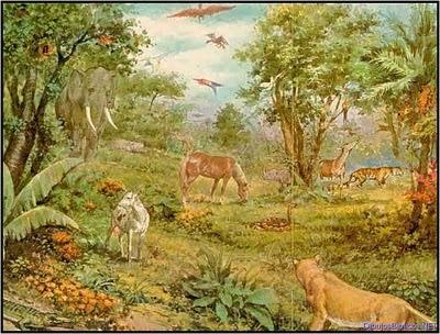 La vida en el para so terrenal h blales de jes s for Adan y eva en el jardin