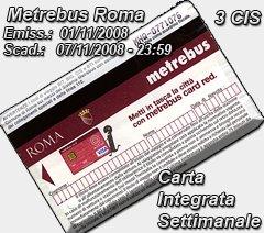 Billete de Metro y Autobús semanal
