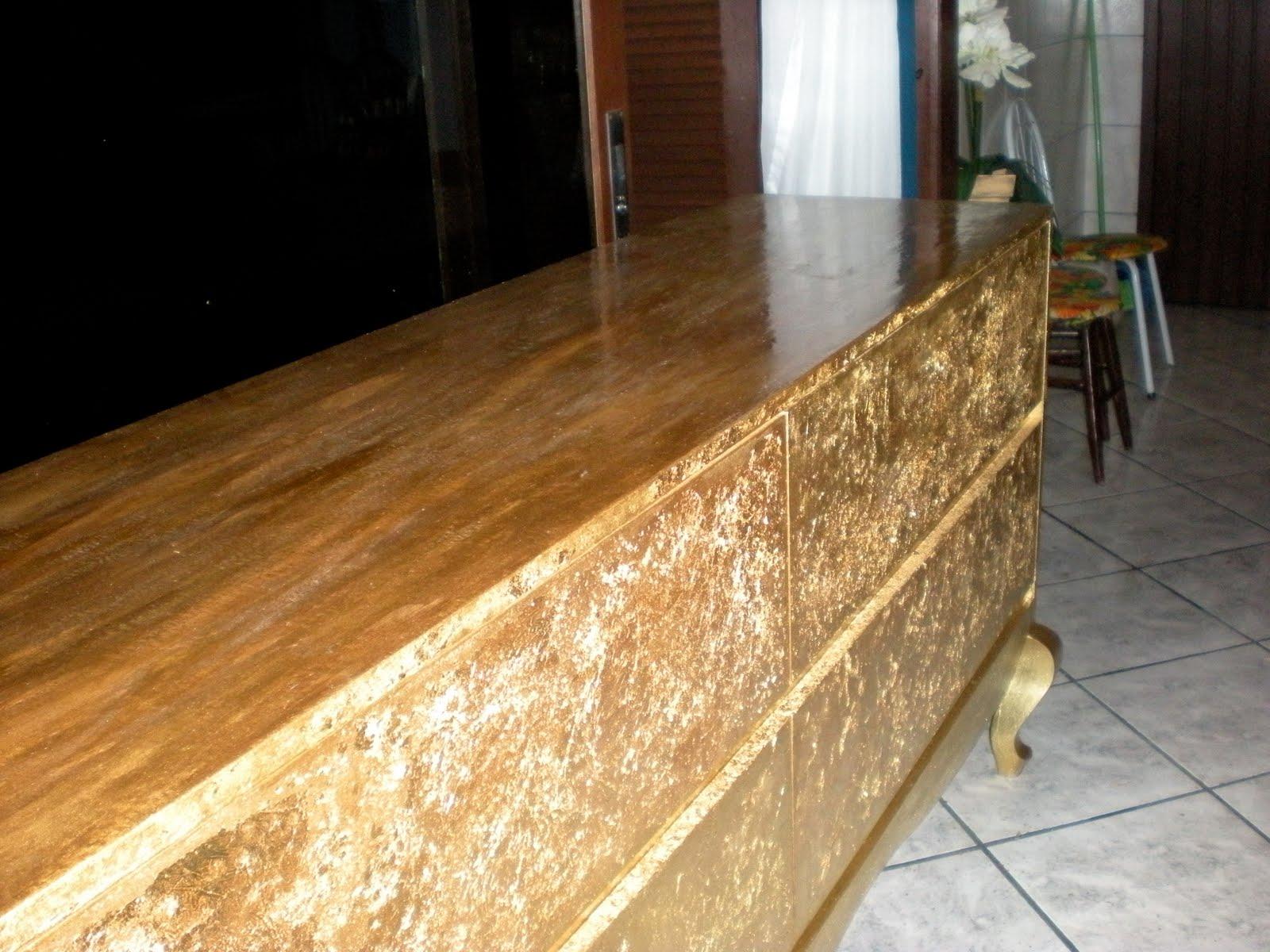 de 2m em compensado e pés madeira todo em folha ouro mais uma #A57326 1600x1200