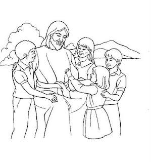Desenhos Biblicos de Jesus para Colorir