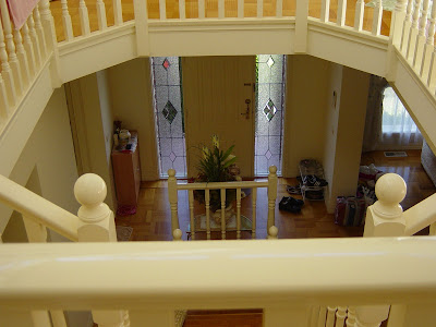 the entrance as seen from top of stairs