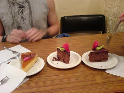 the sour one: my lemon tart vs KY and Mag's gateaux du chocolat