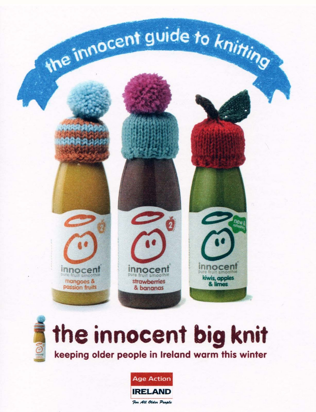 Innocent Smoothie Big Knit Patterns : The Woolly Way of Ireland: Innocent Smoothie Big Knit Hats now on Sale!!