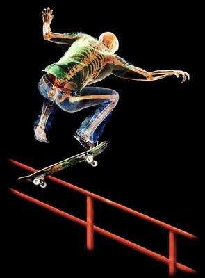 Humano trasparente - skater