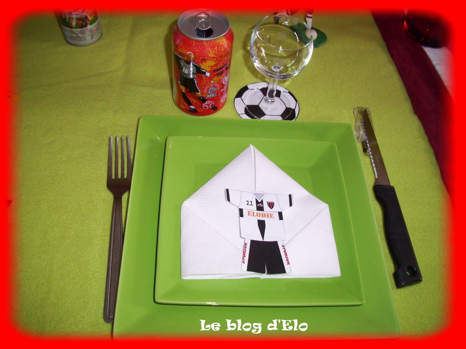 décoration de table sur le foot #2