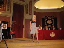 Despedida de Cristina García Barreto tras su recital en el Ateneo de Madrid.