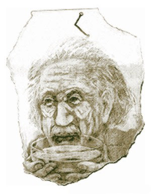 Einstein and his Women Optical Illusion