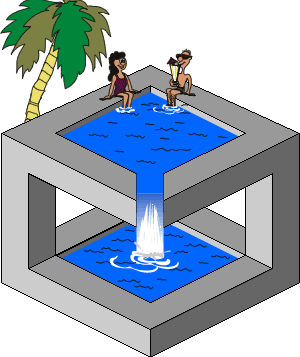 Funny Pool Optical Illusion - Impossible Illusion