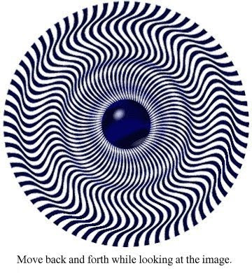 Eye of the Storm Optical Illusion - Cyclone Illusion