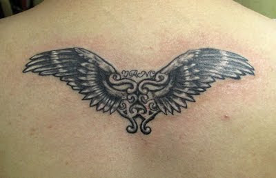 Heart Wing Tattoo on the Back - Tattoo Design