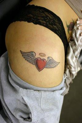 Heart Wings Rose Tattoos - Tattoo Design