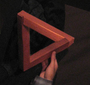 Impossible Penrose Triangle Illusion
