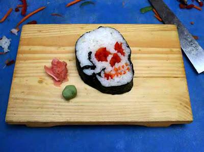 Scary Sushi Illusion