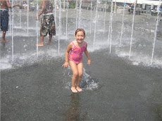 Rachel At The Kids Fountain