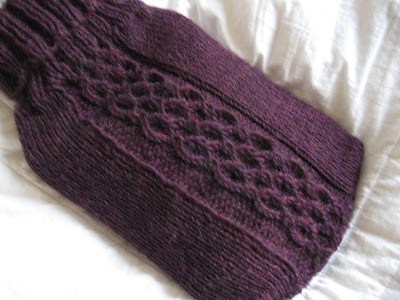 Knitting Pattern For Hot Water Bottle Cozy : Trampled by Geese Patterns: trebuchet hot water bottle cozy