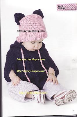 bebek örgü modelleri panço anlatimi