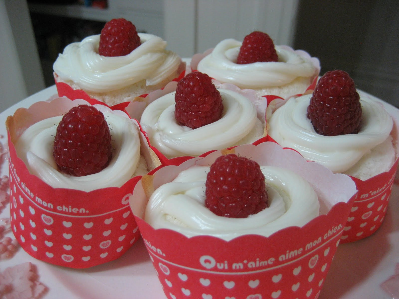 Sugar & All The Fixins: Angel Food Cupcakes with Raspberry Filling