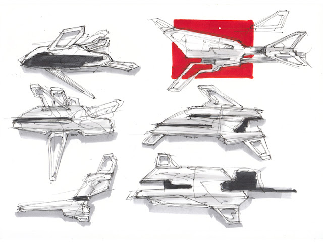 Initial sketches for BS series spacecrafts