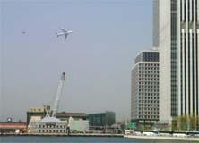 Aviões Militares sobrevoam N.Y causando pânico
