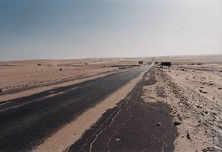 North Sinai desert road