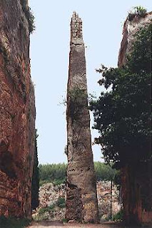 The 'pillar' at Saladin's Castle