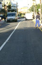 Nueva pérdida de aparcamientos en la remodelación de la calle Maestra Ángeles Aspiazu
