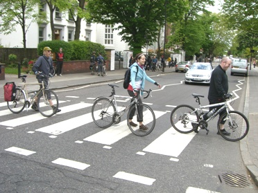 crossing Abbey Road on bike on lambethcyclists.org.uk