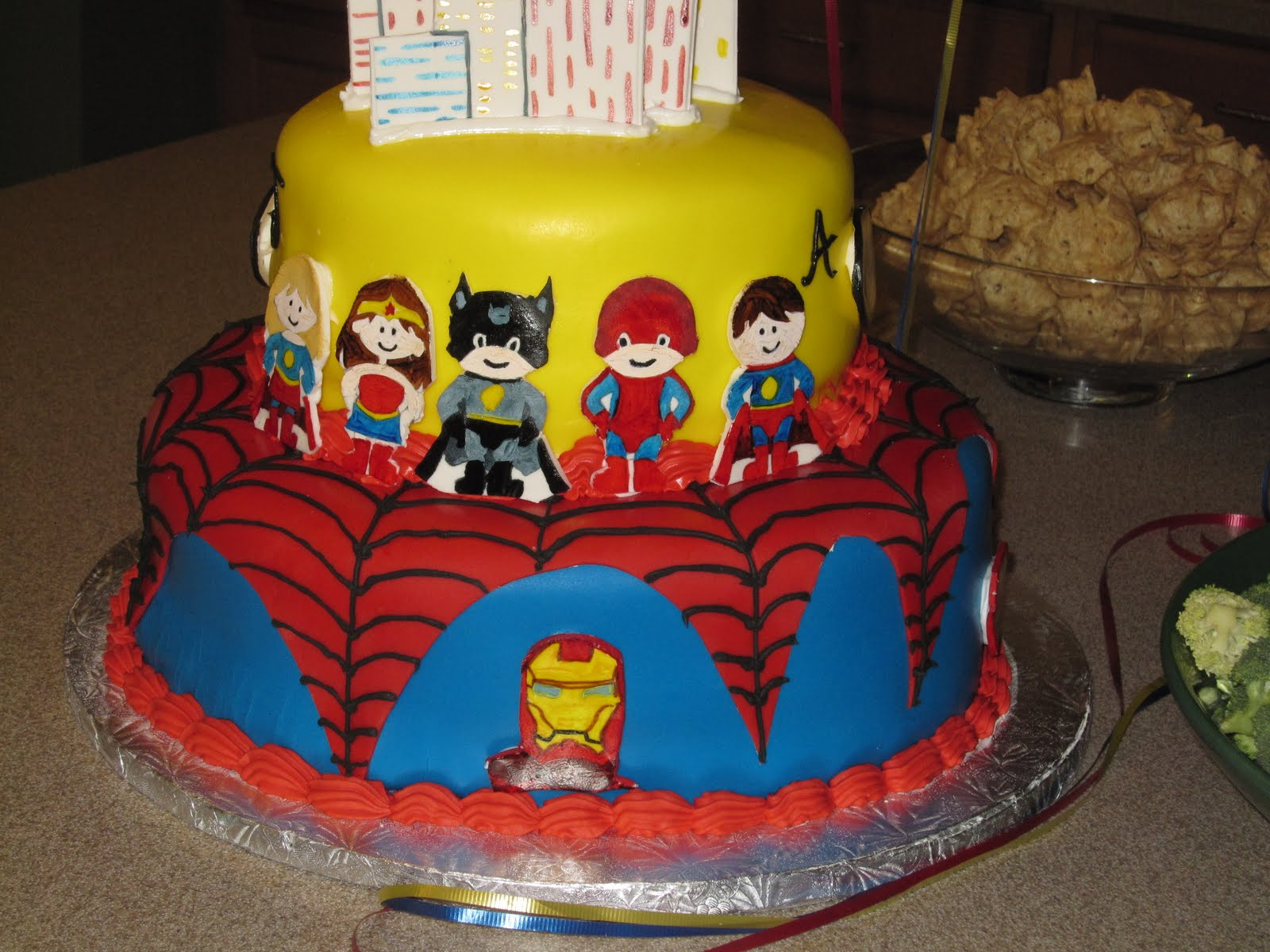 Jillys Takes The Cake Superhero Birthday Cake