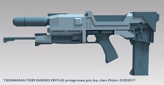 terminator endo rifle papercraft