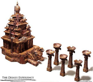 Maqueta 3D imprimible y armable del Templo del Ojo Prohibido / Temple of the Forbidden Eye. Manualidades a Raudales