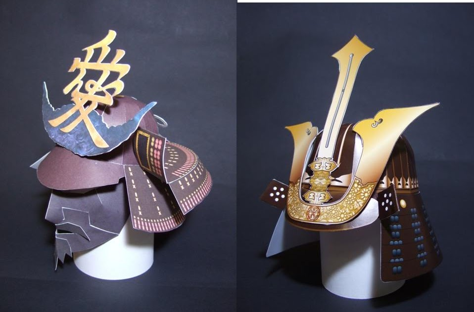 how to make a samurai helmet from paper