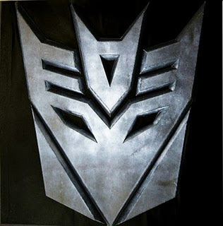 transformers decepticons logo papercraft papercraft