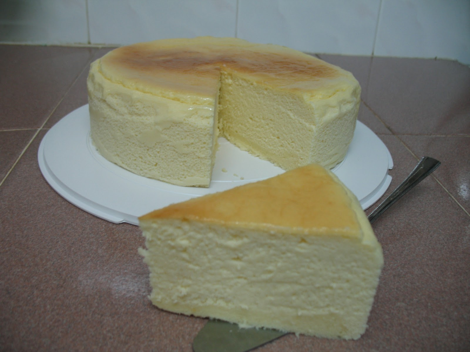 mayjun's Homemade Cakes: Japanese Light Cheesecake~~8 inch ...