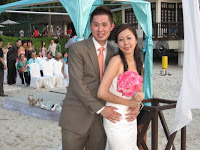 Newly weds Sin  Kiat and Chuen Sam