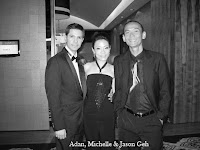 Adan, Michelle & band manager Jason Geh