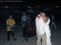 Wedding singers providing live music for Bee and Jason's first dance