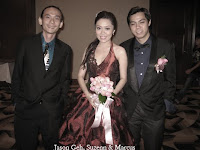 Band manager Jason Geh with wedding couple Suzenn and Marcus