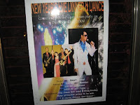 The poster that was place at all entrances of Raintree club featuring Jason Geh Live Band and the Elvis of Malaysia