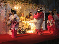 Malay cultural dancers performing