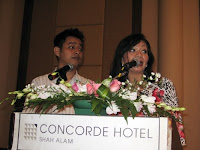 The emcees at the event