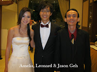 Newlyweds Amelia, Leonard with band manager Jason Geh